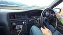 ドリフト INSANE OnBoard 1JZ-GTE Toyota Mark II JZX100 - Manji Drift Clutch Kick!