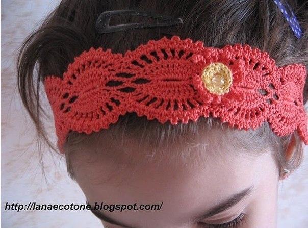 Delicadezas en crochet Gabriela: Cintillo para el cabello muy fácil