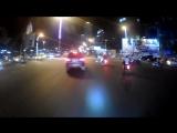 тест новой экшен камеры на HD1080/30f ночью