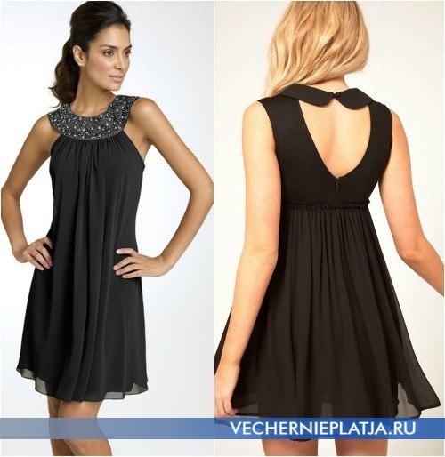 Платья декор черного платья вязаный