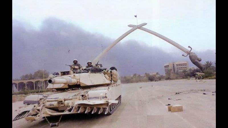 Война в Ираке Танки M1 Abrams в бою War in Iraq Tanks M1 Abrams in battle