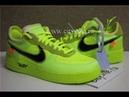 PK God Off White x Nike Air Force 1 Volt OW AF1 Lemon Yellow AO4606 700 Ready from CitySole ru
