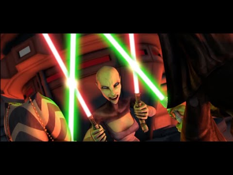 Luminara Ahsoka Tano VS Asajj Ventress - Star Wars: The Clone Wars 1080p HD Lightsaber Duel