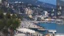 Крым Ялта Погода.Набережная.Море.Пляж. 9 Апреля 2019 Крым веб камера онлайн