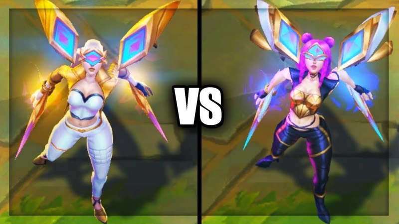 Prestige Edition KaiSa vs KDA KaiSa Popstar Skins Comparison (League of Legends)