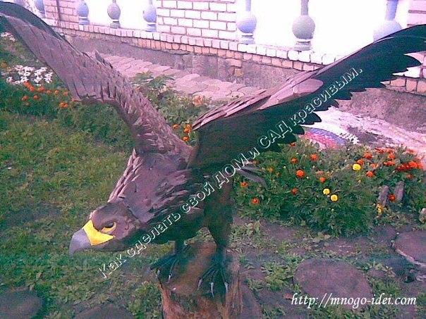 Орел из пластиковых бутылок пошаговая инструкция видео