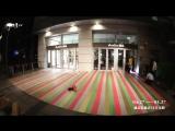 Декорирование торгового центра цветным скотчем