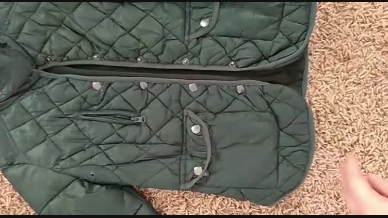 1200 р почта!💣 Стёганая куртка PULL BEAR зелёного цвета🌳 размер s ( идет на xs-s)