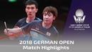 2018 German Open Highlights I Ma Long/Xu Xin vs Lee Sangsu/Jeoung Youngsik (Final)