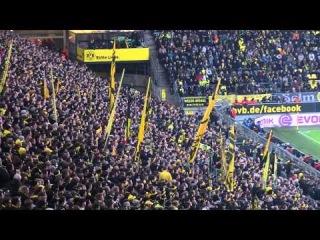 Stimmung Südtribüne: Borussia Dortmund - FC Augsburg (1. BVB Heimspiel 2014)