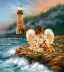 Анимация ангела хранителя маяка.  Его задача смотреть, чтобы лампочка всегда горела и корабли видели где причал.