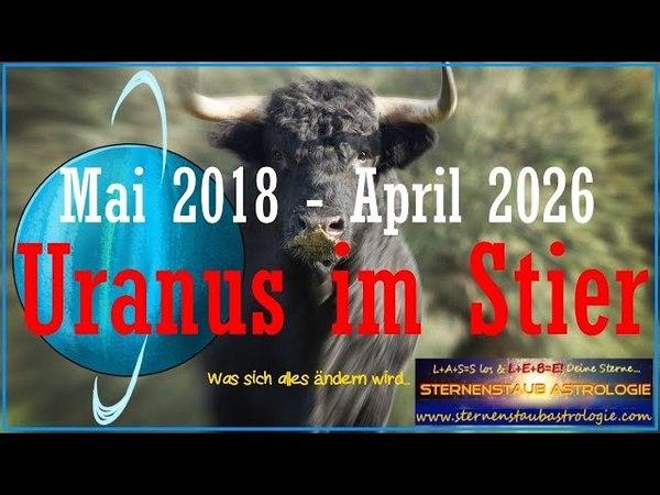 Uranus Stier 2018 - 2026 - Was wird sich ändern? Insideranalyse Sternenstaubastrologie