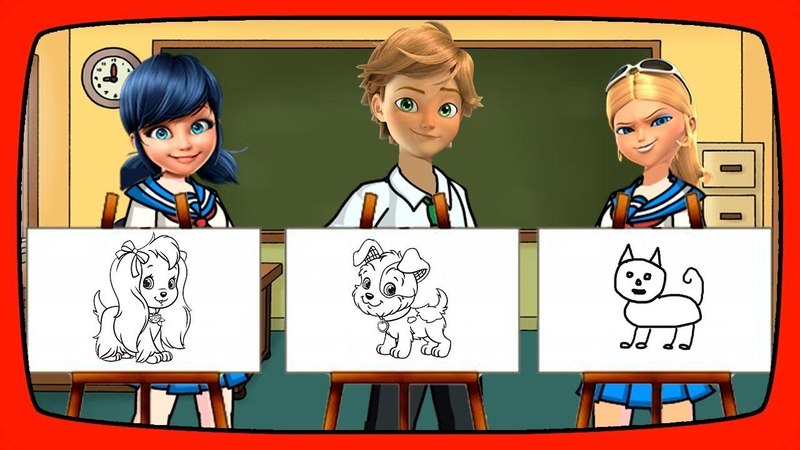 Miraculous Ladybug Drawing Lesson in Class with Marinette and Adrien Miraculous Ladybug NEW