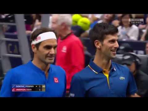 R. Federer / N. Djokovic vs K. Anderson / J. Sock LAVER CUP 2018
