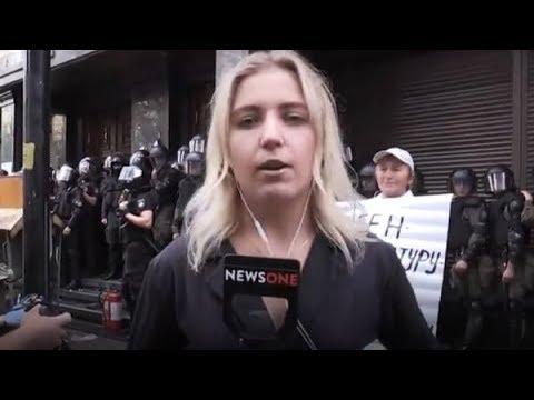Фашисты ИЗБИЛИ журналистку NEWSONE . Нацисты Авакова и Порошенко