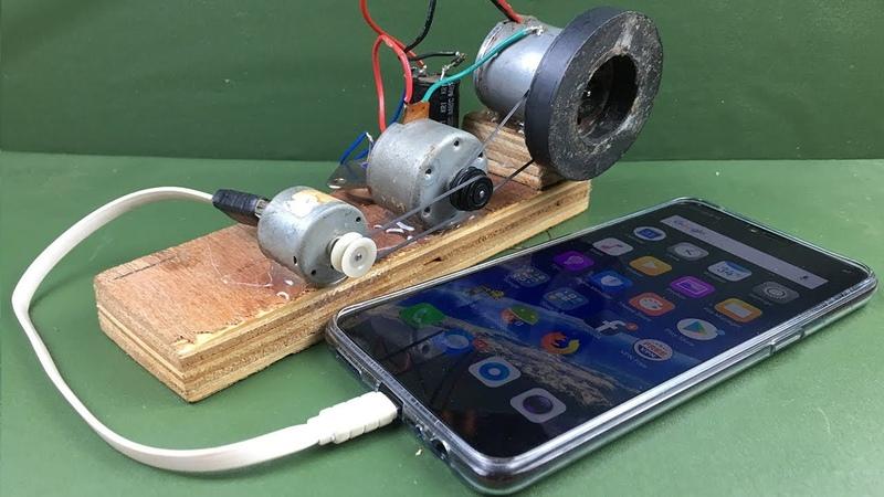 Видео Мобильный зарядный самогенерируемый генератор с использованием двигателей постоянного тока