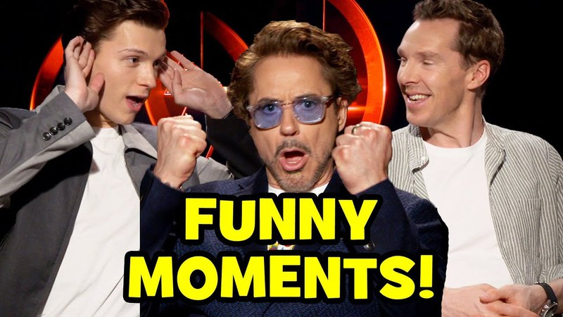 AVENGERS INFINITY WAR Funny Cast Interviews - Roasting Goats, Bloopers Behind The Scenes Moments
