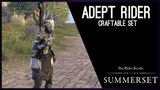 Adept Rider craftable Set - Summerset Chapter, Elder Scrolls Online ESO