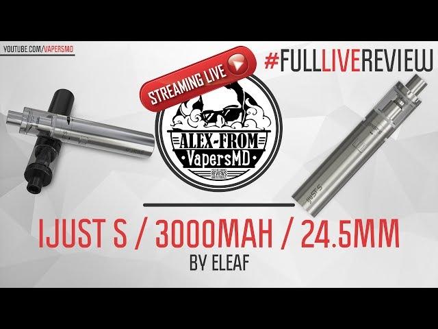 IJust S / 3000 mAh / 24.5mm / 4ml | by Eleaf | лучший вейп для новичков