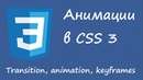 Анимации в CSS 3 Transition animation keyframes