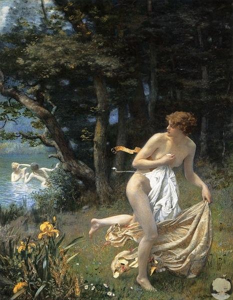 Эдвард Роберт Хьюз (1851 — 1914) — английский художник, писавший в стиле эстетизма и прерафаэлитизма