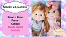 Passo a passo boneca de pano- lindo boneco de pano- Nikolas e Laurinha parte 1 (cabeça )
