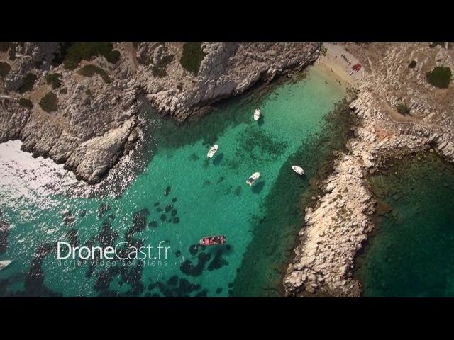 Les îles Marseillaises par drone (Frioul, Planier, Riou, Château d'If)