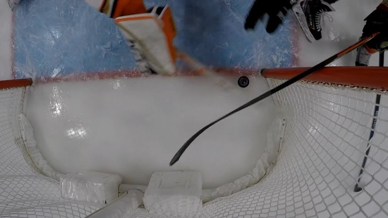 John Gibson reaches back for spectacular save on goal line