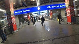 Галерея Краковская, Краков жд и автовокзал. Krakow Glowny, bus. Galeria Krakowska.
