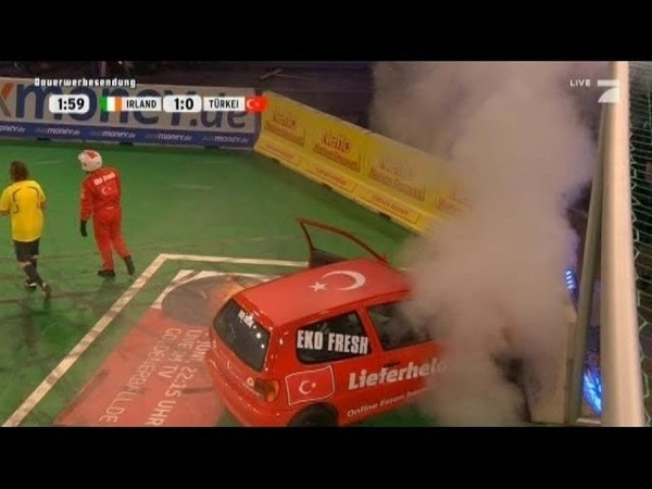 Gruppe A Irland -Türkei - TV total Autoball