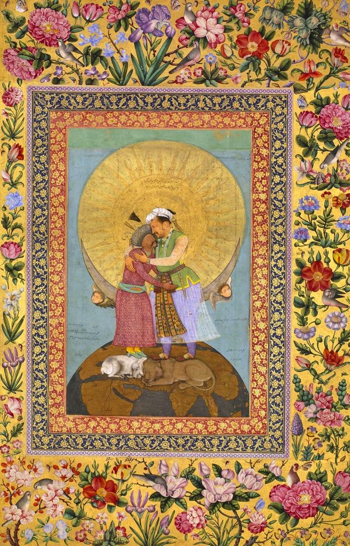 Аллегорическое изображение двух тюркских правителей - императора Джахангира (Вел...