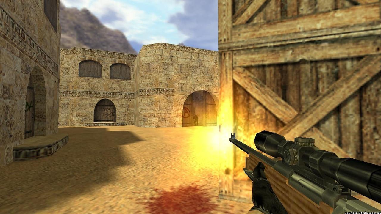 Выстрел из AWP в Counter-Strike 1.6
