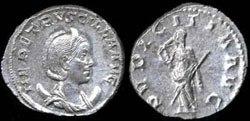Древнеримские женщины-богини, монеты, Пудиция