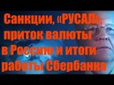 Катасонов В.Ю.Санкции, «РУСАЛ», приток валюты в Россию и итоги работы Сбербанка