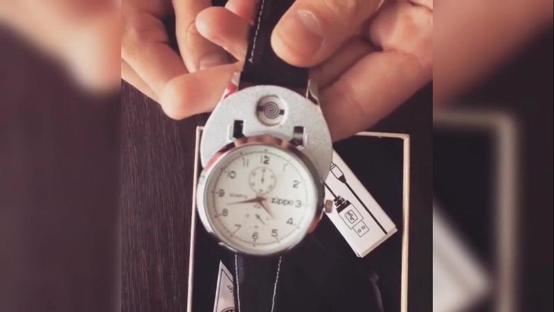 Часы зажигалка Стильный и функциональный мужской аксессуар