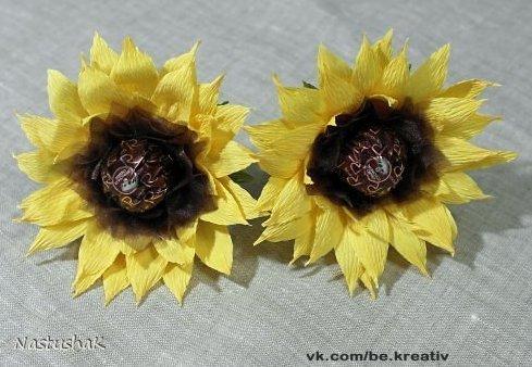 Цветы из конфет своими руками подсолнухи