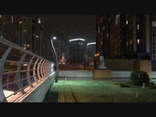 Первый снег в Чистом Обнинске