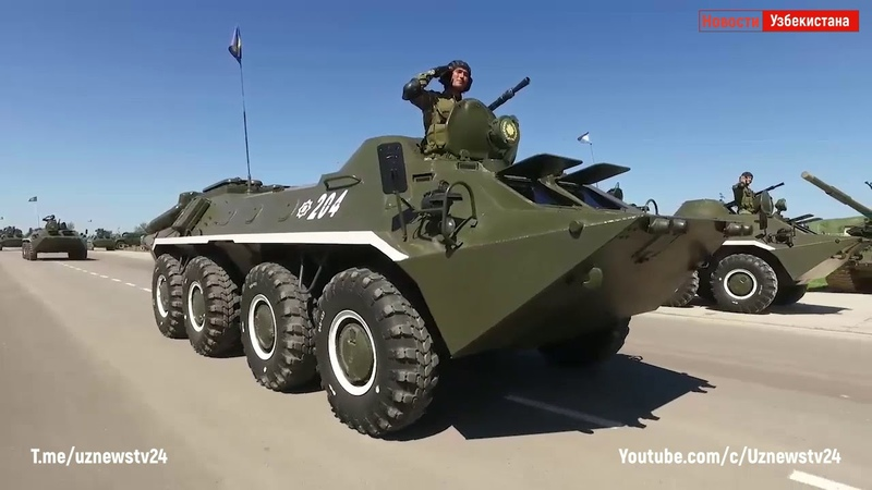 На полигоне Чирчик прошел парад военной техники: как это было