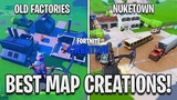 BEST MAP CREATIONS IN 'FORTNITE CREATIVE' - FORTNITE CREATIVE MODE! (Fortnite Battle Royale)