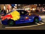 Arab Supercars in London 2012 Subaru WRX STi in a great Red Bull wrap with awesome loud sound