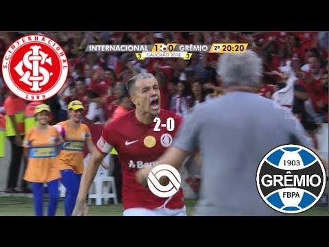 Gols - Internacional 2 x 0 Grêmio - Gauchão 2018 - RBS TV HD