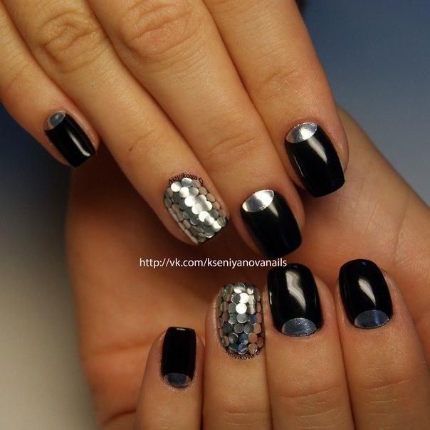 Покрытие черный ШЕЛЛАК на ногтях ФОТО 2014 72