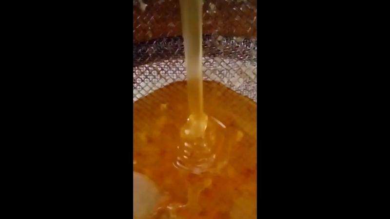 Вот так укладывается настоящий натуральный мёд!