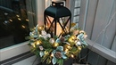 Easy Christmas Planters Lantern Planter Floral Arrangement Outdoor Decorating