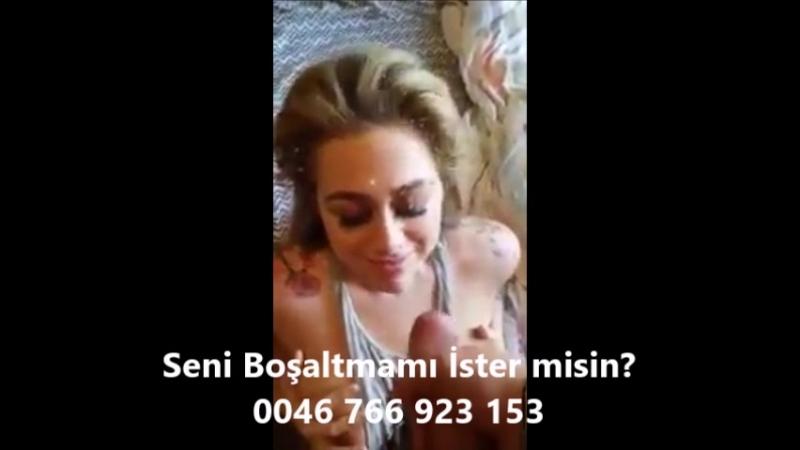 Türk liselinin yüzüne boşalıp liseliyi mutlu ediyor