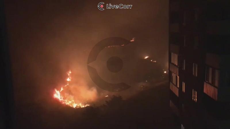 Природный пожар подобрался к новостройкам в Анапе