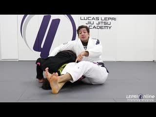 Lucas Lepri - Closed Guard to Spider Guard Sweep Attempt to Omoplata