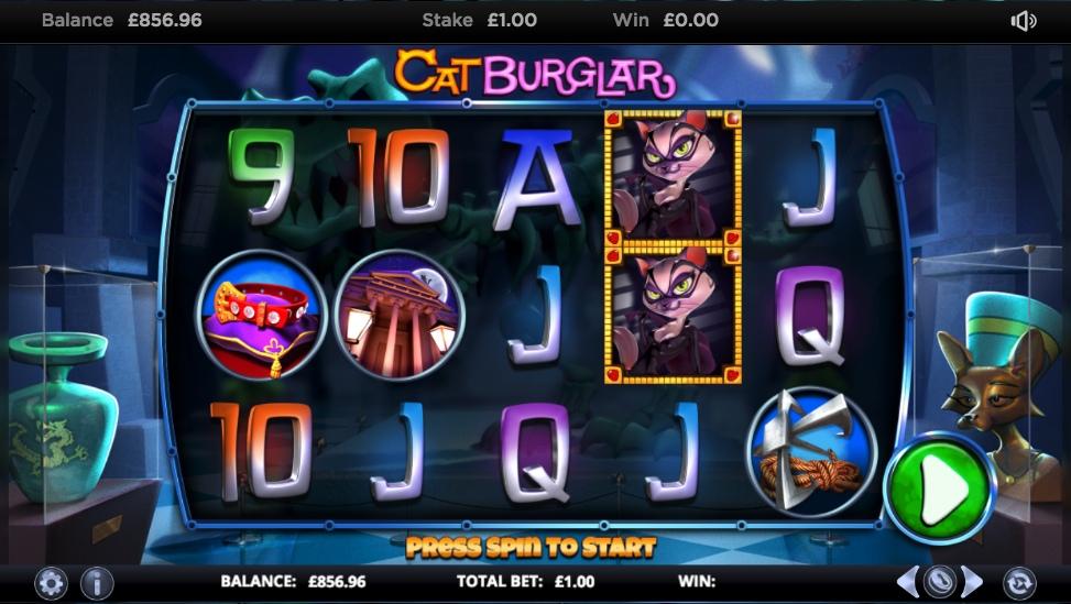 Играть на рубли в игровые автоматы Cat Burglar
