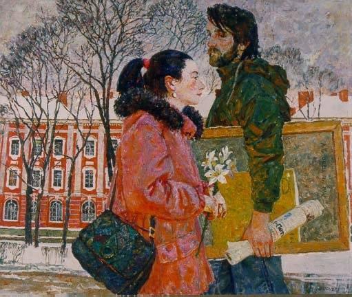 Александр Титовец, или Саша, как любовно называют его американские друзья, переехал из Санкт-Петербурга в Эль-Пасо вместе с женой Любой (тоже художницей) и двумя дочерьми в 1992 году. Он