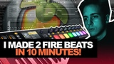 I MADE 2 FIRE BEATS IN 10 MINUTES 10-MinTuesday #003 (Making A Beat In FL Studio From Scratch)